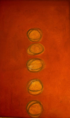 Origine, 2010 olio e pigmenti su tela cm 150x95