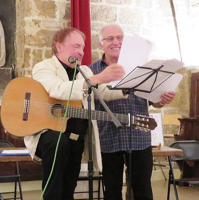 Jean Marie Quiesse et Christian Malaplate - Montpellier - Société des poètes - 11 mai 2017- Photo D. Ferré