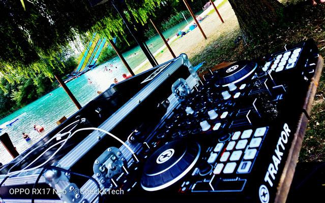 DJ set plan d'eau