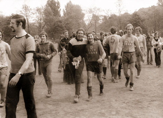 After a victory and the promotion to next higher division, 1979.