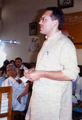 During the prize distribution function of the drawing competition at KVKV, Rajkot, 1991.
