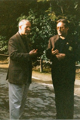 With Peter van den Dungen, the founder of the network, during the International Peace Museum Network conference in Japan, 1998.
