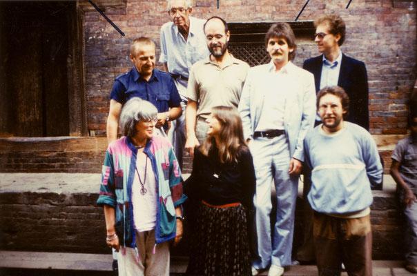 The Austrian TV team in North India, 1985. Left: Ludmilla Tüting. Centre: Götz Hagmüller. Top: Herbert Tichy.