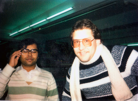 With Indian colleague and friend, Ravinder, 1980.