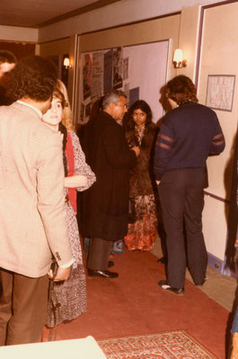 After the inauguration of the exhibition with the Indian Consul General and his daughter, 1984.