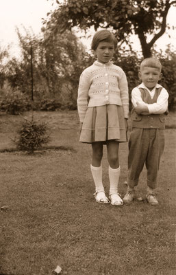 With great cousin Erika, 1962.