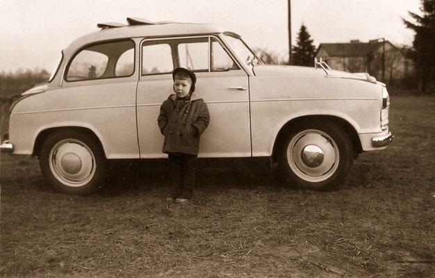 In front of LLoyd Alexander, 1960.