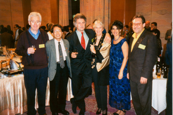With participants of the International Peace Museum Network conference in Japan, 1998.