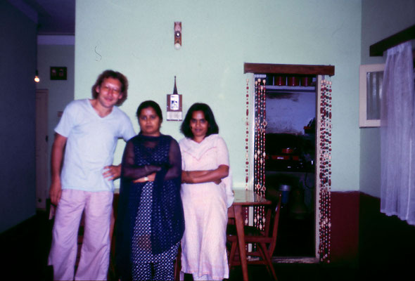 With Ravinder's friends in Bangalore, 1983.