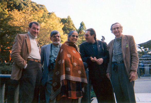 Peter Rühe with Sunanda and Arun Gandhi during the International Conference for Peace Museums in Japan, 1998