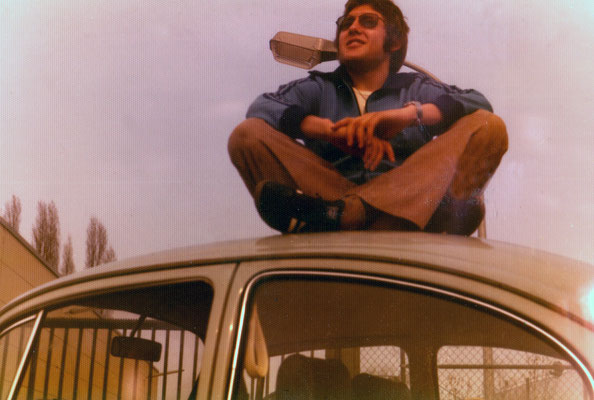 Sitting on the first own car, 1976.