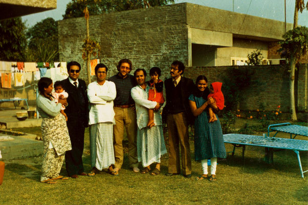With Ravinder's relatives in Mohali, India, 1983.