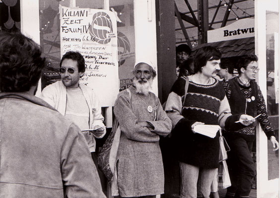 With Sunderlal Bahuguna (Chipko movement) during the first German Environment Day, 1986.