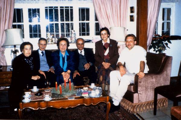 With Lina Majaj and her family, East-Jerusalem, Christmas 1989.