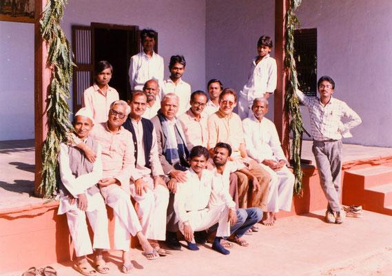With the staff of Gandhi Ashram, Ahmedabad, 1991.