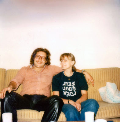 With then girlfriend Renate, 1980.