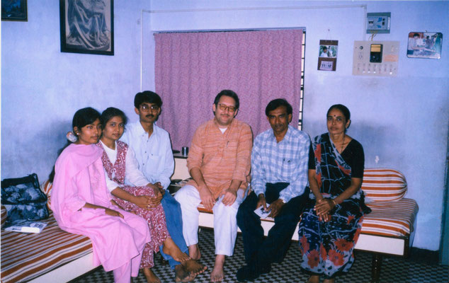 In India with friends, 1998.