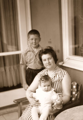 With mother and sister Corinna, 1966.