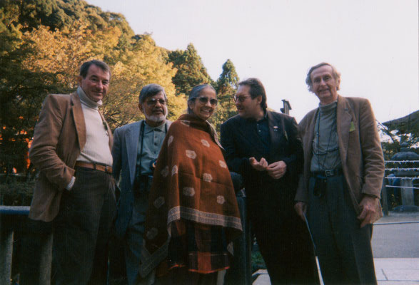 With Arun and Sunada Gandhi during the International Peace Museum Network conference in Japan, 1998.