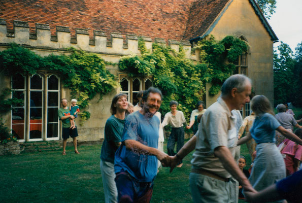 During the annual Gandhi Summer School in Oxfordshire, UK, 1995.
