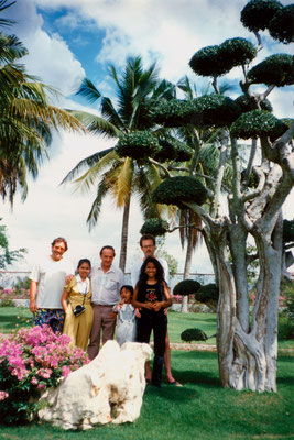 With friends in Thailand, 1993.