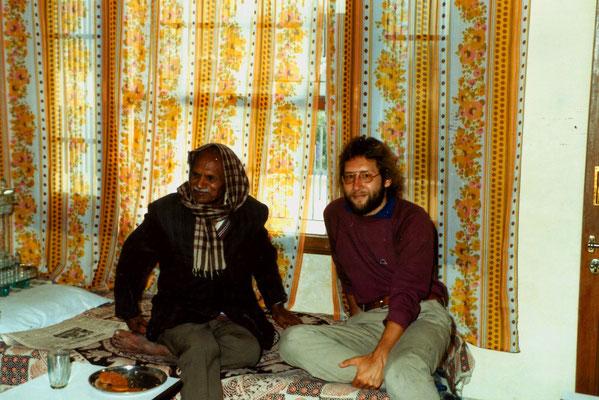 In Mohali, India, with Ravinder's grandfather, Babu Ram, 1983.