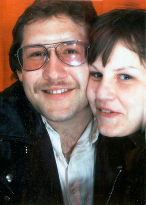 With girlfriend Renate, 1979.