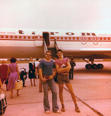 With friend Andi on the way to Israel, 1979.