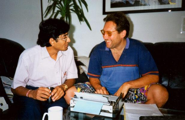 With friend Umesh Shah, Berlin, 1994.