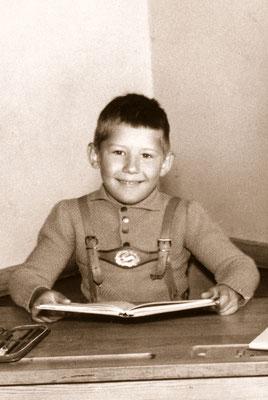 At school, 1965.