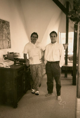 With Canadian friend Andrew Wilson, Berlin, 1994.