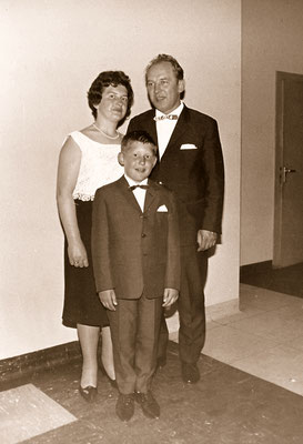 With parents, 1965.