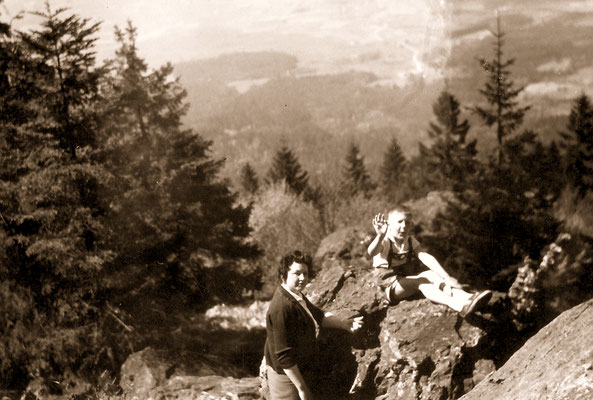 With mother during holidays in Bavaria, 1963.
