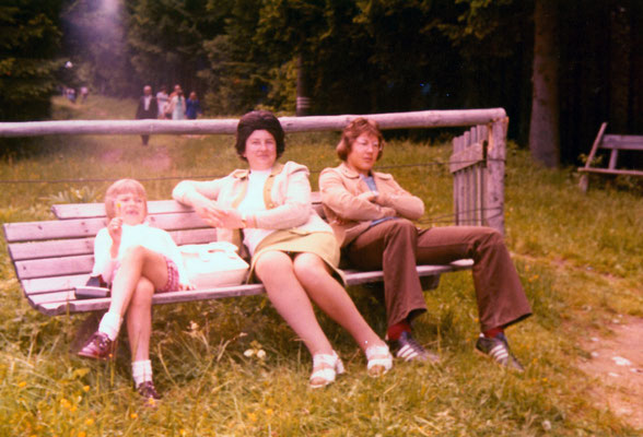 In Bavaria with mother and sister Corinna, 1972.