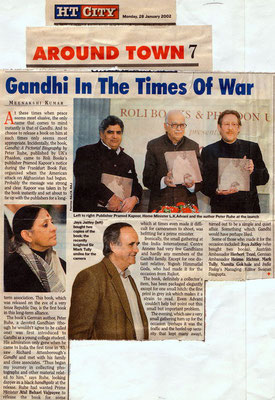"A Hindustan Times article on the occasion of the release of the Indian edition of Peter Rühe's photo biography ""Gandhi"", Delhi, 28 January 2002."
