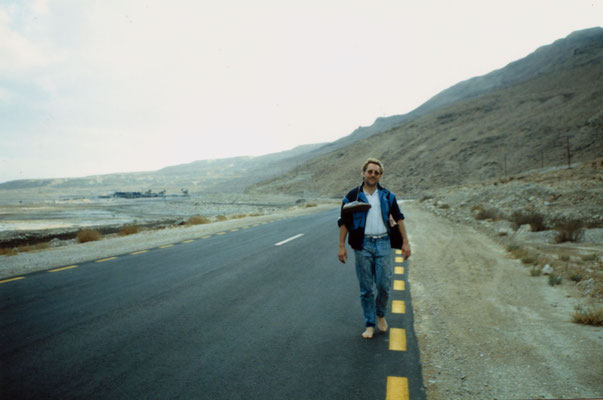 During a lonesome walk near the Dead Sea, Israel, 1989.
