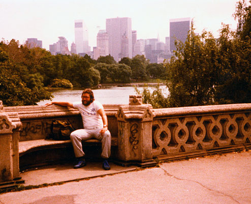 In Central Park, New York City, 1981.