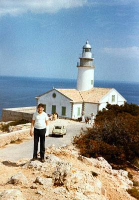 On Mallorca with a broken thumb, 1970.