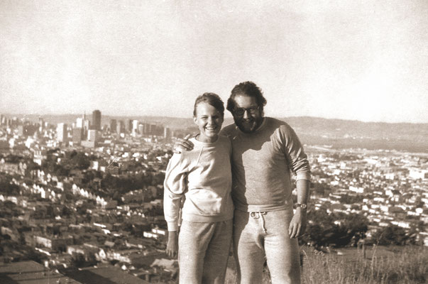 With then girlfriend Renate in front of San Francisco, 1981.