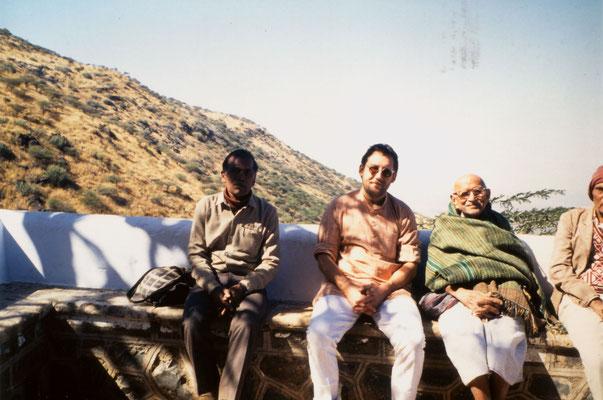 With Prabhudasbhai Gandhi on tour, 1991.