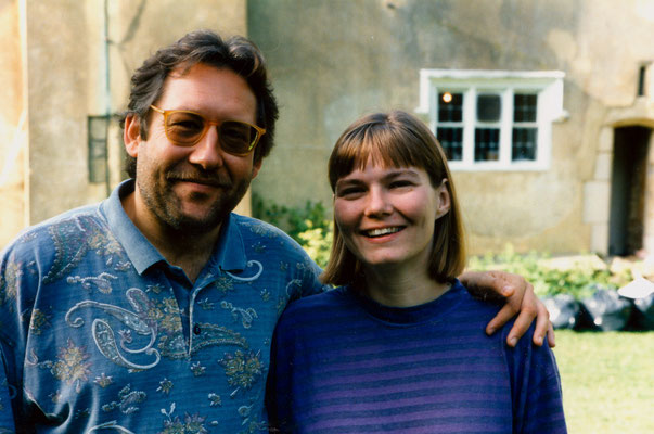 With wife Susanne during the annual Gandhi Summer School in Oxfordshire, UK, 1995.