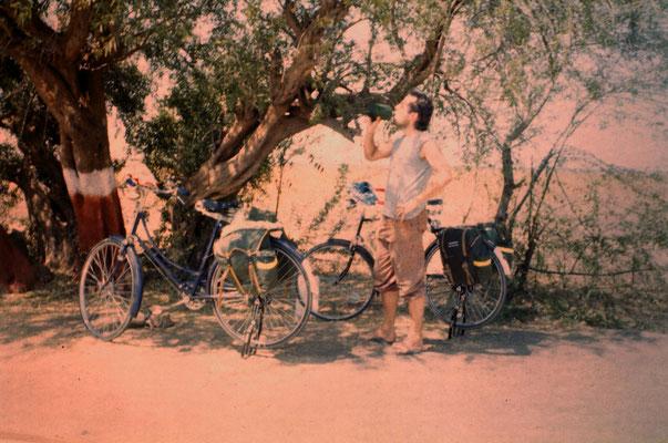 During the bicycle tour through Saurashtra, 1986.