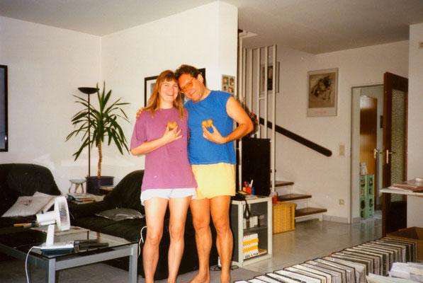 With fiancee Susanne in Berlin, 1994.