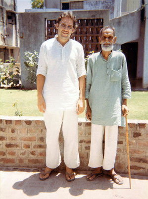 Peter Rühe and C.N. Patel, editor of the Gujarati edition of the Collected Works of Mahatma Gandhi, Ahmedabad, 1986