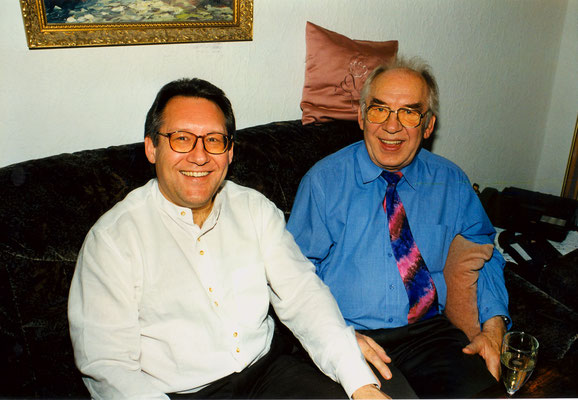 With father Horst, Berlin, 1998.