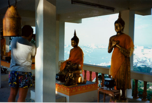 In a Buddhist temple, Thailand, 1993.