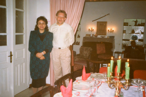 With Lina Majaj in her house in East-Jerusalem, Christmas 1989.