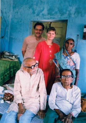 With fiancee Susanne, Prabhudasbhai Gandhi and his wife Ambadevi, Rajkot, 1993.