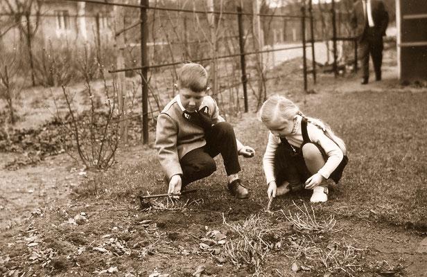 With playmate Monika, 1964.