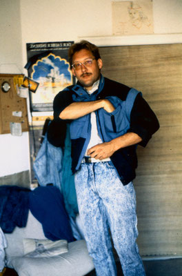 At home in Berlin, 1990.